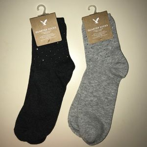 American Eagle studded socks